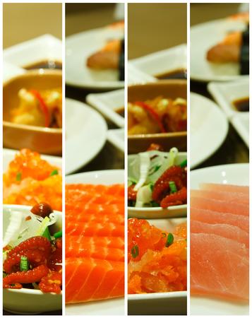 japanese food backgrounds in restaurant feeling