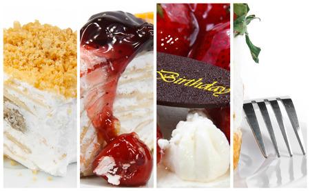 Mix cake backgrounds on white