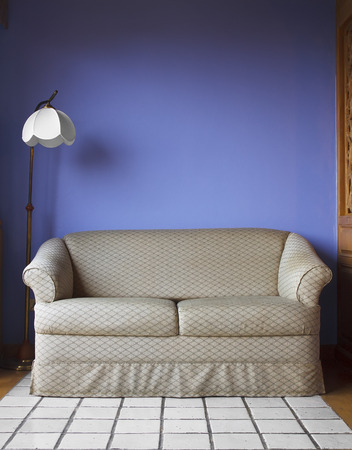 sofa in parlor at hotel Stock Photo