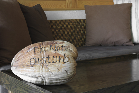 do not disturb on dry coconut in the hotel room