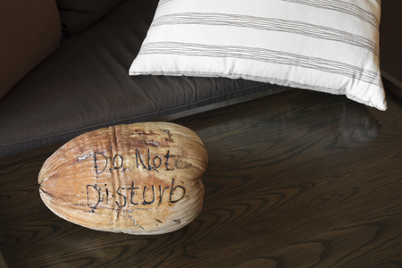 do not disturb on dry coconut in the resort room