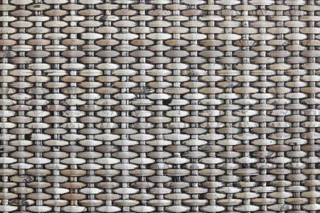 wooden partition: rattan weave textured by handmade Stock Photo