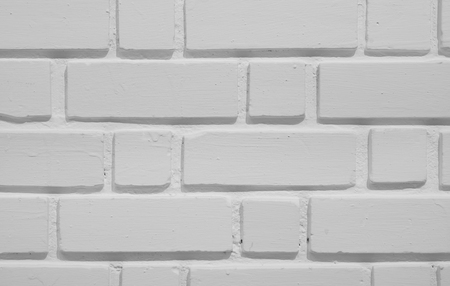 old white paint brick wall textured background for interior or exterior architecture decor and building construction retro or vintage pattern style with wallpaper