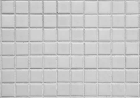 old white tile ceramic wall or empty mosaic table or blank square block floor on top view for wallpaper and texture background or interior and exterior architecture with bathroom or toilet floor Foto de archivo