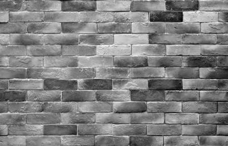 empty gray brick wall or stone floor and black white table loft by retro mosaic style on top view for old texture background and dark vintage wallpaper or modern interior brickwork to construction Stockfoto