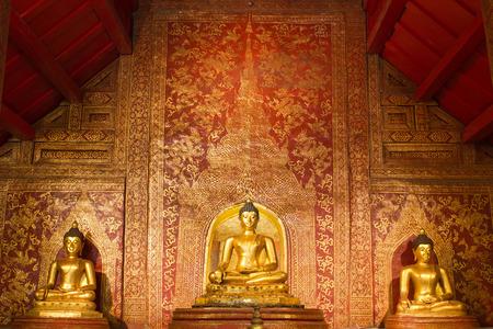 Golden Buddha 1300 year old in Chiang Mai Thailand