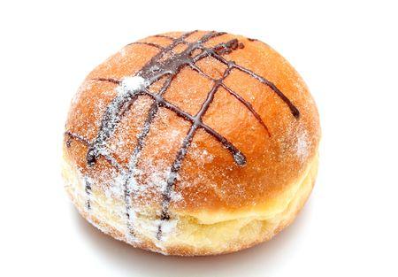 Chocolate doughnut.