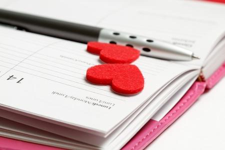 monday: Valentines day  Stock Photo