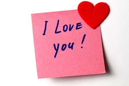 carta de amor: Te quiero