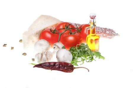 Pizza ingredients Stock Photo