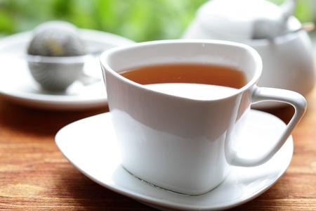 fresh morning: Morning tea Stock Photo