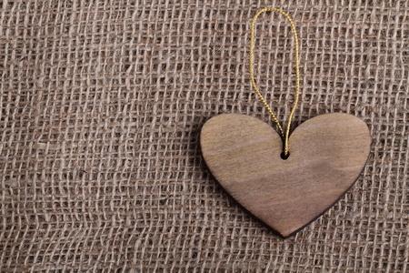 st valentin: Wooden heart Stock Photo