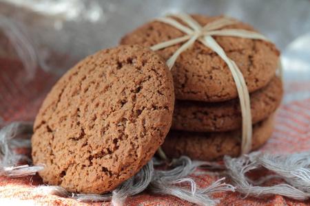 Homemade organic oat cookies photo