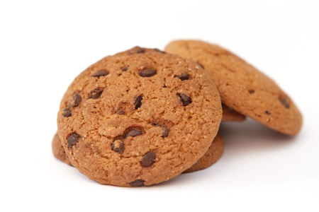Oat cookies with chocolate photo