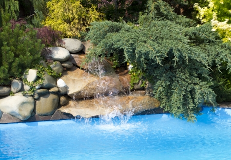 Swimming Pool water fall  Stock Photo - 17635094