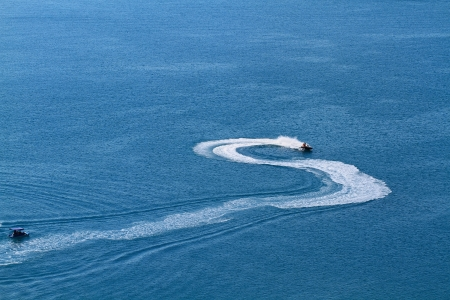 Speedboat offshore photo