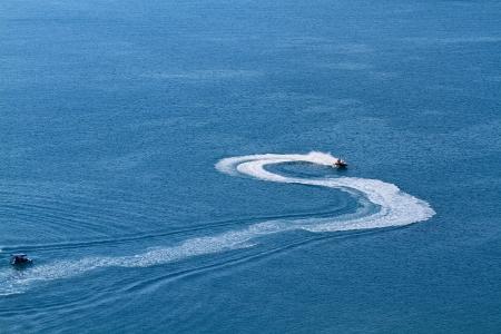 Speedboat offshore