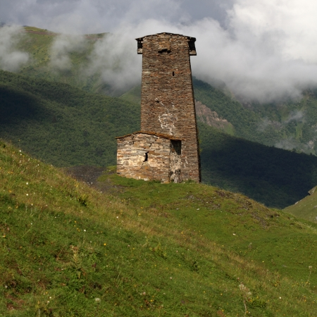 swanetia: Towers in Ushguli, Upper Svaneti, Georgia