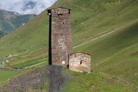 swanetia: Towers in Ushguli, Upper Svaneti, Georgia