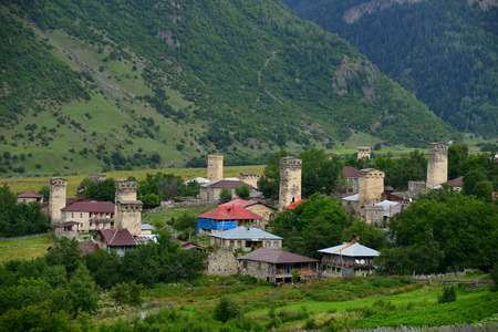ushguli: Towers in Ushguli, Upper Svaneti, Georgia