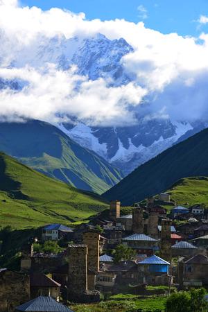 View of Ushguli, Georgia photo