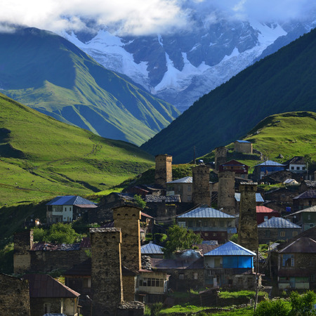 swanetia: Village in Upper Svaneti, Georgia