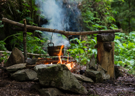 Kettle on the fire photo
