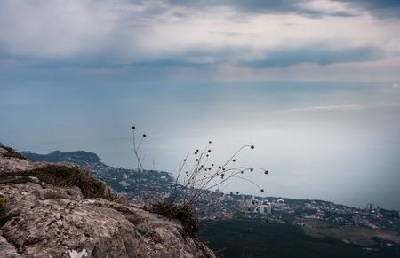 Ai-Petri Crimea landscape. View of Big Yalta photo