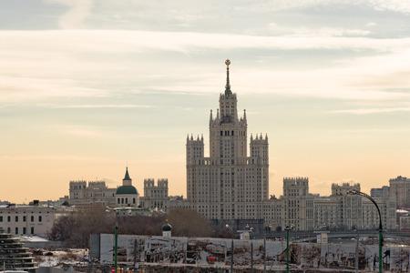 kotelnicheskaya embankment: View of Kotelnicheskaya embankment, Moscow