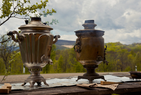 Smoking samovar photo