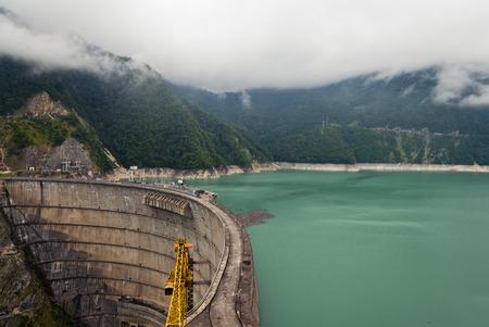 swanetia: The Inguri Dam is a hydroelectric dam on the Inguri River in Georgia Stock Photo