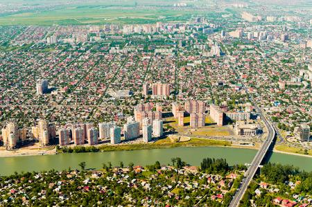 kuban: City of Krasnodar, top view