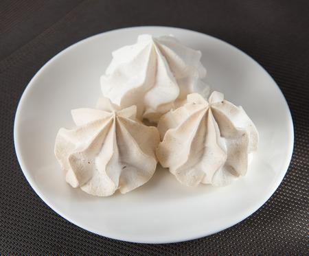 meringue: Vanilla Meringue Stock Photo