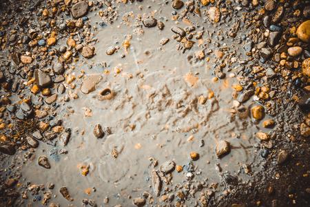 pit fall: raindrop Stock Photo
