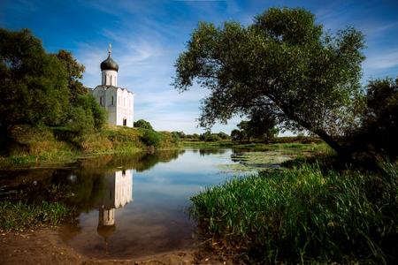 intercession: Church of the Intercession on the Nerl near the village Bogolyubovo, Russia