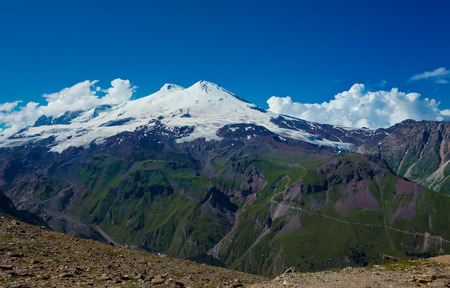elbrus: Mountain of Elbrus. View from Cheget. Caucasus, Russian Federation