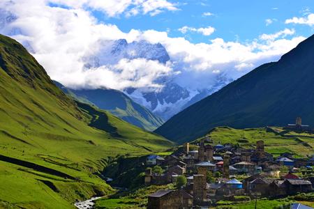 svaneti: Ushguli - Upper Svaneti, Georgia. Stock Photo