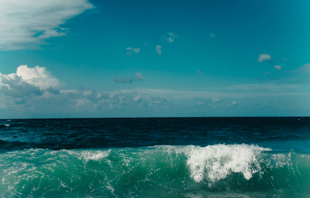 restless: Restless Black Sea and blue background of the sky Stock Photo