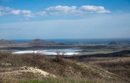 Spring landscape on the Crimean coast