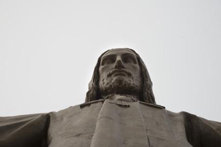 sagrat cor: Barcelona, Catalonia, Spain, October 02, 2016. Jesus Christus Statue (by Josep Miret) at Temple Expiatori del Sagrat Cor on Summit of Mount Tibidabo in Barcelona.