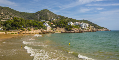 beaches of spain: The beaches of Sitges, Catalonia, Spain Stock Photo