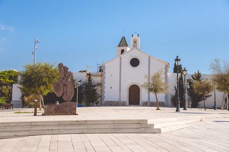 SITGES, CATALONIA, SPAIN - SEPTEMBER 29, 2016: Ermita de Sant Sebastia