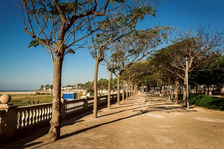 Embankment of the city Stock Photo