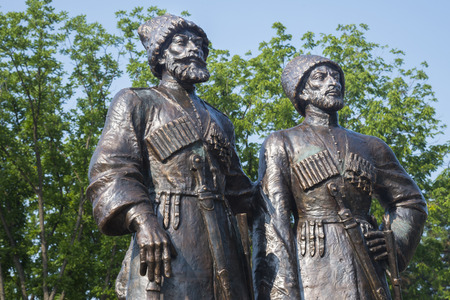 KRASNODAR, RUSSIA - JULY, 29, 2016: Monument To Cossacks and Mountaineers - heroes of World War I Editöryel