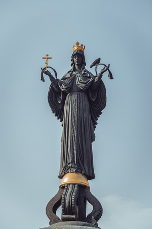 angels fountain: KRASNODAR, RUSSIA - Detail of the monument to St. Catherine, Krasnodar