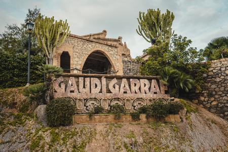 GARRAF, SPAIN - OCTOBER 11, 2016: Celler Güell by Antoni Gaudi. Garraf, Barcelona province, Catalonia, Spain.