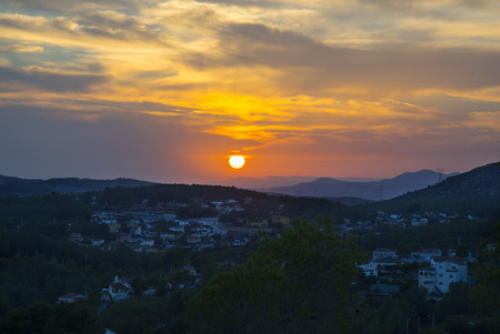 Beautiful sunset in Catalonia, Spain