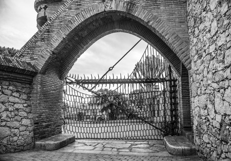 GARRAF, SPAIN - OCTOBER 11, 2016: Celler Güell by Antoni Gaudi. Garraf, Barcelona province, Catalonia, Spain Editorial