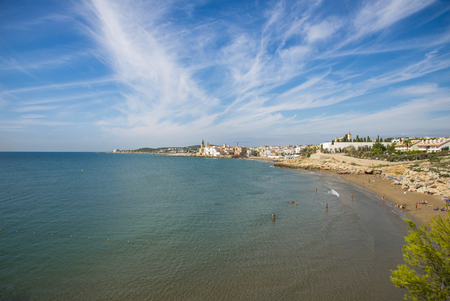The beaches of Sitges, Catalonia, Spain Stock Photo