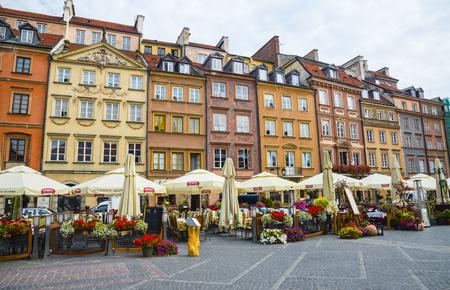 WARSAW, POLAND - SEPTEMBER 28, 2016: Market Square